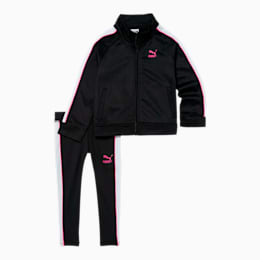 Tailored for Sport Infant + Toddler Track Jacket and Legging Set, PUMA BLACK, small