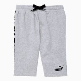 Amplified Boys' French Terry Shorts JR, LT HEATHER GREY, small