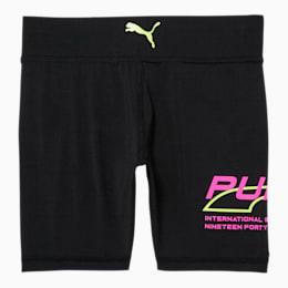 Evide Girls' High Waisted Biker Shorts JR, PUMA BLACK, small