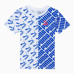 Graphic Little Kids' AOP Tee, PUMA WHITE, small