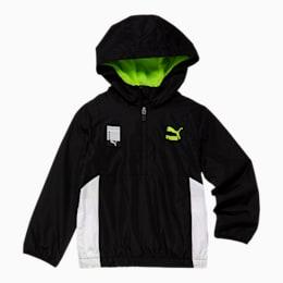 Tailored for Sport Little Kids' Windbreaker, PUMA BLACK, small