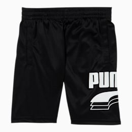 Rebel Bold Little Kids' Performance Shorts, PUMA BLACK/WHITE, small