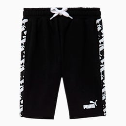 Amplified Little Kids' French Terry Shorts, PUMA BLACK, small