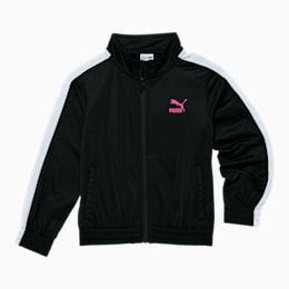 Tailored for Sport Little Kids' T7 Track Jacket, PUMA BLACK, small