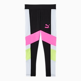 Tailored for Sport Little Kids' Colorblock Leggings, PUMA BLACK, small