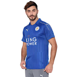 Leicester City Home Men's Replica Jersey, Royal Blue-metallic gold, small-IND