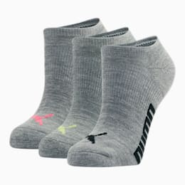 Women's Invisible No Show Socks (3 Pack), BRIGHT PINK, small