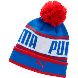 Capital Pom Beanie, Blue/Red, small