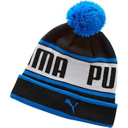 Capital Pom Beanie, BLACK / BLUE, small