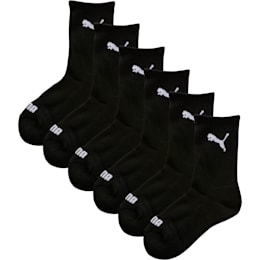 Boys' Crew Socks (6 Pack), black, small