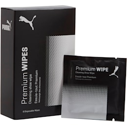 Premium Shoe Care Wipes, white-black, small
