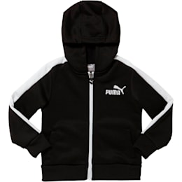 Toddler French Terry Full Zip Hoodie, puma black, small