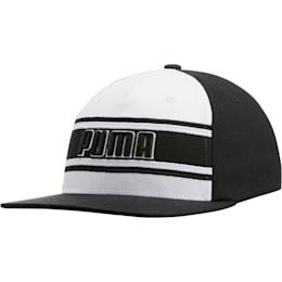 STAGE DIVE FLATBILL FLEXFIT Hat, BLACK/WHITE, small