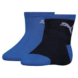 Lot de deux paires de chaussettes antidérapantes Mini Cats pour bébé, powder blue, small