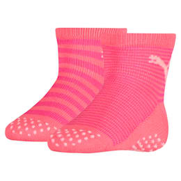 Baby Anti-Slip Socks 2 Pack, violet purple combo, small