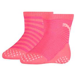 Skridsikre sokker til babyer 2-pak, violet purple combo, small