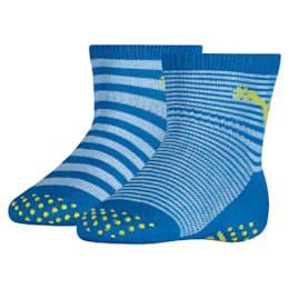 Skridsikre sokker til babyer 2-pak, blue green combo, small