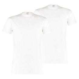 Basis-T-shirt med rund halsudskæring, 2 pak
