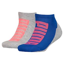 Logo Boys' Trainer Socks 2 Pack