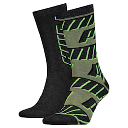 All-Over Logo Socks 2 Pack