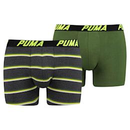 Pack de 2 boxers curtos Basic às riscas para homem