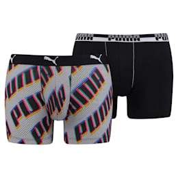 Basic All-Over Wording Men's Boxer Shorts 2 Pack