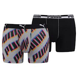 Basic-boxershorts med dækkende tekst til mænd, 2-pak