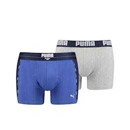 PUMA Statement Men's Boxer (2 Pack), blue combo, small