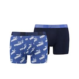 PUMA Big Logo Allover-Print Herren Boxershorts 2er Pack
