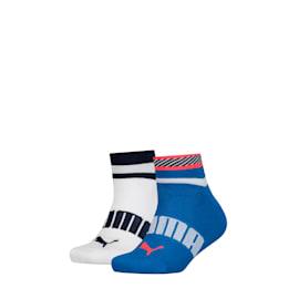 PUMA Stripe Jungen Quarter Socken 2er Pack