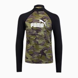 PUMA Swim langærmet, mønstret rashguard til mænd