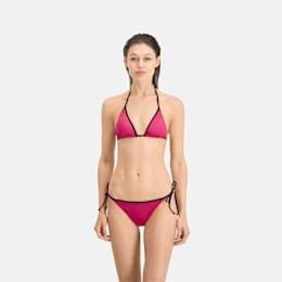 PUMA Swim Women's Triangle Bikini Top, pink, small