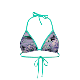Haut de bikini triangle à motifs PUMA Swim pour femme