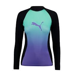 PUMA Swim Damen Langarm Rashguard mit Farbverlauf