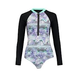 PUMA Swim Damen Gemusterter Langarm Surfanzug