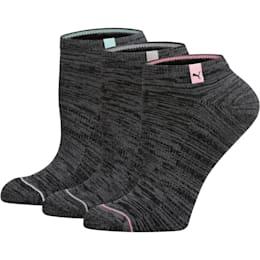 Women's No Show Socks (3 Pack), BLACK COMBO, small