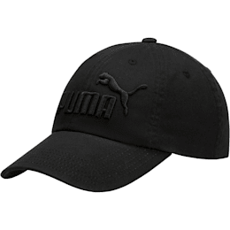 PUMA #1 Relaxed Fit Adjustable Hat, Black, small