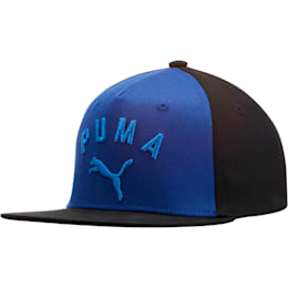 PUMA Griffin Youth Flatbill Hat, Blue/Black, small