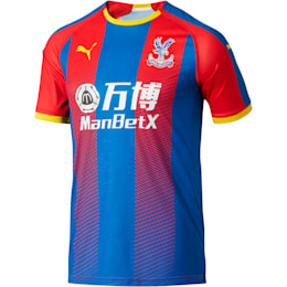 Crystal Palace Men's Home Replica Jersey, Crystal Palace Blue- Red Str, small