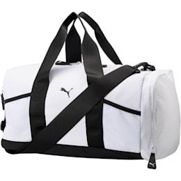 PUMA Upward Duffel Bag, White/Black, small