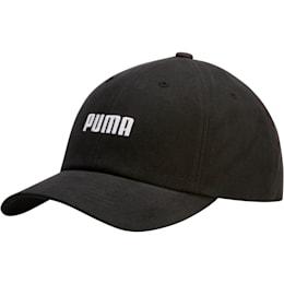 Emblem Relaxed Fit Adjustable Dad Cap, Blk/Wht, small
