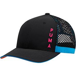 Upward Performance Women's Adjustable Cap, Black/Multi, small