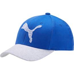 The Podium Adjustable Cap, BLUE / GREY, small