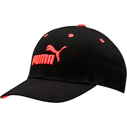 The Weekend Girls' Cap, BLACK / CORAL, small