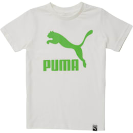 Little Kids' Archive Logo Tee, PUMA WHITE, small