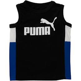 Toddler Colorblock Muscle Tank, PUMA BLACK, small