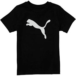 Toddler Cotton Jersey Heather Tee, PUMA BLACK, small