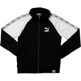 Little Kids' Terry Track Jacket, PUMA BLACK, small