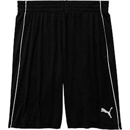 Boys' Poly Interlock Pieced Shorts JR, PUMA BLACK, small