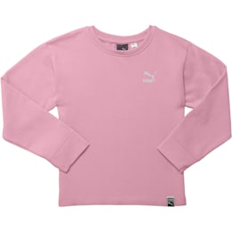 Little Kids' Oversized Fleece Pullover, PALE PINK, small
